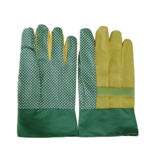 Industrial Non Slip Full PVC Impregnated Gloves Green Palm pictures & photos