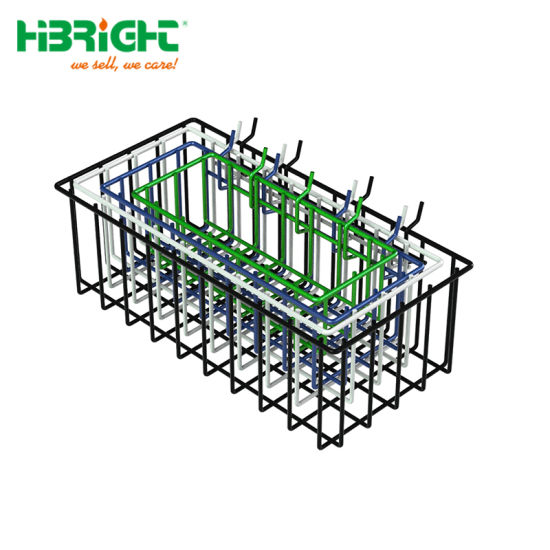 China Heavy Duty Four Dip Coated Hanging Wire Mesh Storage Baskets