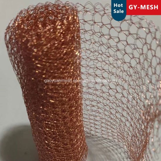 Copper Compressed Knitted Wire Mesh for Filter