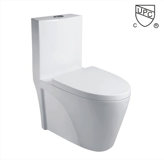 K-0382 Upc Certificate Siphonic One Piece Toilet with R&T Flush Fittings