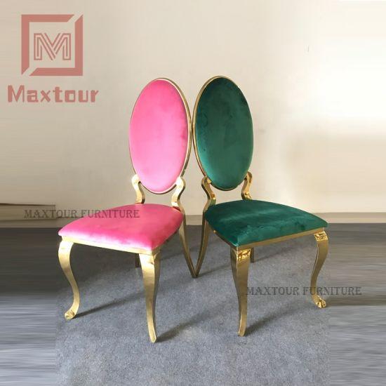 Astounding 2019 New Design Luxury Pink And Gold Velvet Dining Chair Uwap Interior Chair Design Uwaporg