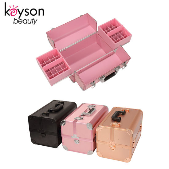Professional Manicurist Beauty Box Nail Polish Carrying Case with Lock