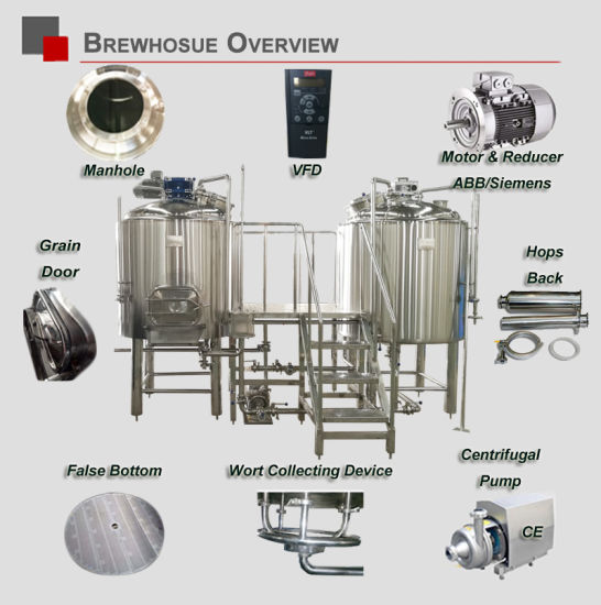 Beer Brewery Equipment Made in China 1000 Red Copper Beer Brewing Manufacturing Equipment pictures & photos