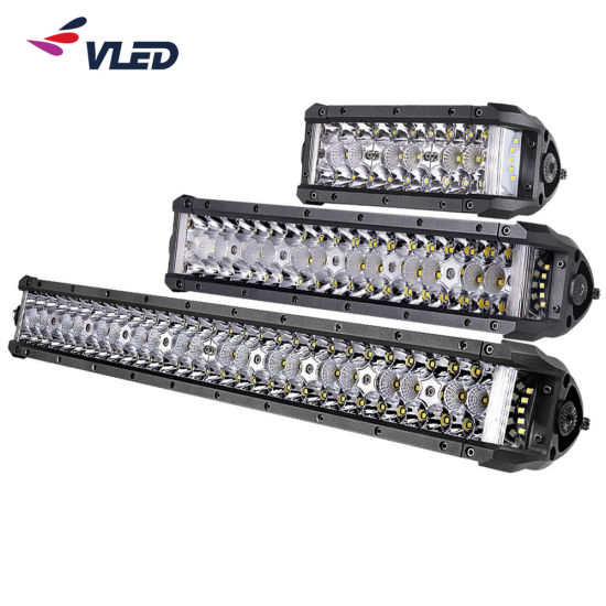 """8"""" 14"""" 22"""" High Power LED Car Light Bar Dual Side Shooter Lightbar Auto Lamps for SUV Jeep Offroad"""