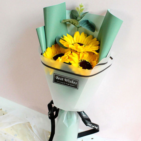 Wholesale Bulk Artificial Sunflowers, Flower Bouquet, Floral Silk Sunflowers with Stems for House, Wedding, Garden, Hotel, Party Decoration