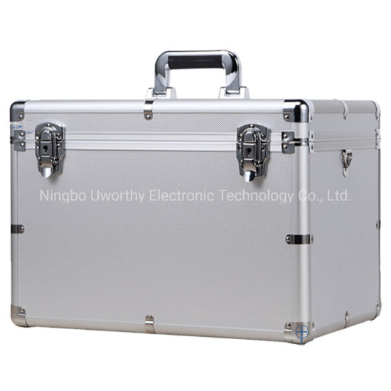 Aluminum Suitcase Carry Tools Packing Case with Lock