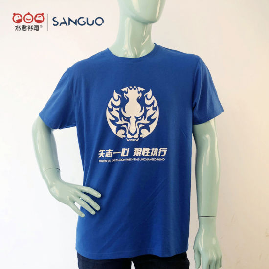 Custom Mens Printing T Shirt Heat Transfer Logo OEM