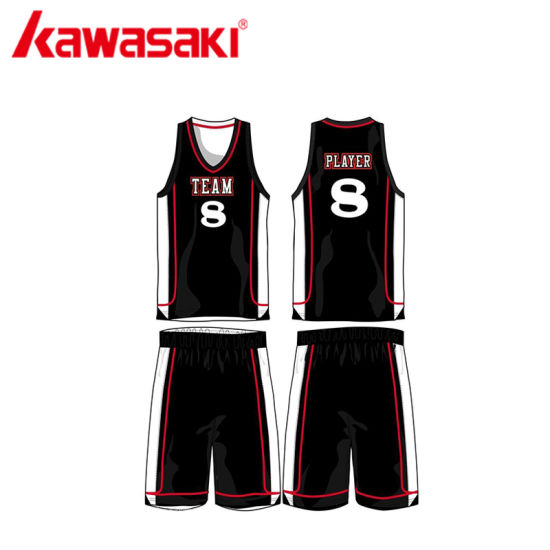 eb613c1c1 China Sublimation Best Design Color Black Basketball Uniform - China ...
