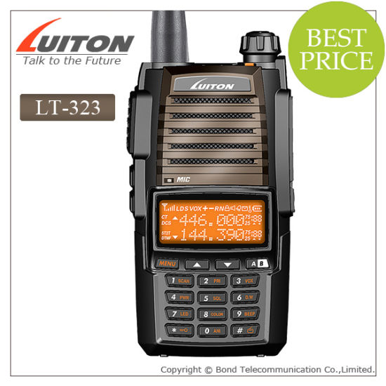 Dual Band Radio VHF/UHF Lt-323 Walkie Talkie pictures & photos