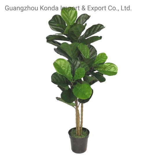 Plastic Lyrata Plant Artificial Bonsai Fiddle Leaf Fig Tree