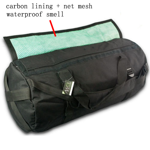 All Weather Odor Lock Bag with Smell Proof Charcoal Carbon Filter Lining