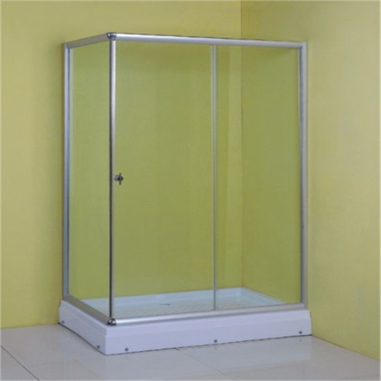 Low Price China Sliding Glass Square Simple Clear Shower Room pictures & photos