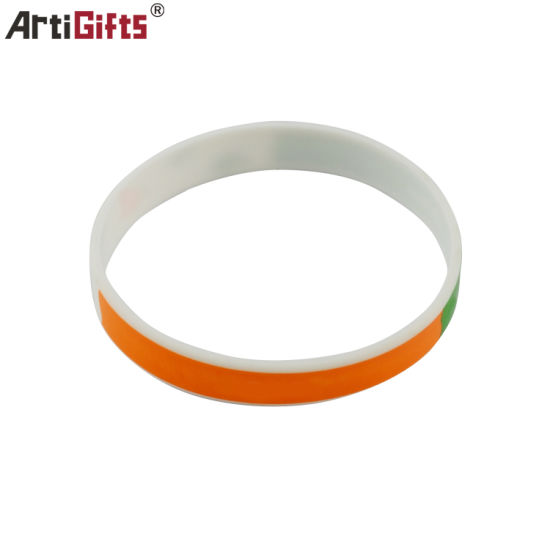 Customized Rubber Silicone Wristband with Gift pictures & photos