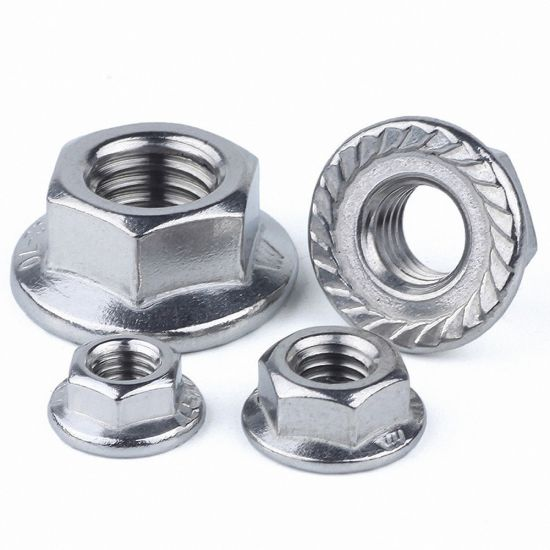 M5 M6 M8 M10 A2 Stainless Steel Hex Flange Bolts With Hexagon Nuts /& Washers