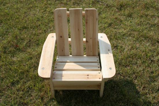 Children furniture - Natural wood color wooden children chair (W08G001)