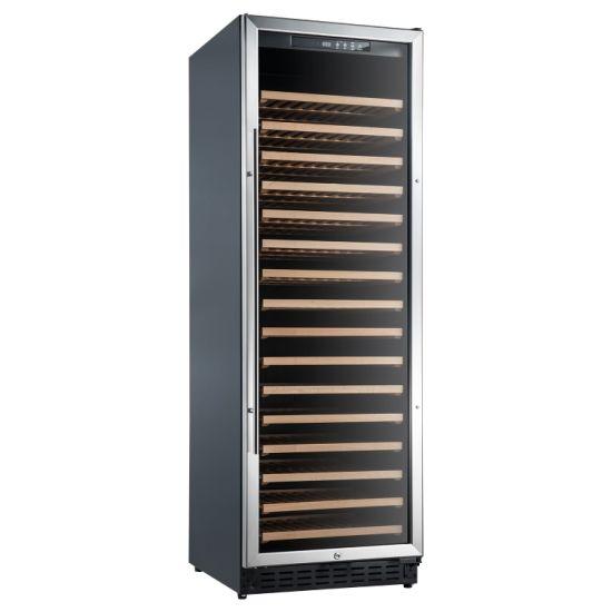 166 Bottles Professional Design Glass Door Wine Cabinet Cooler