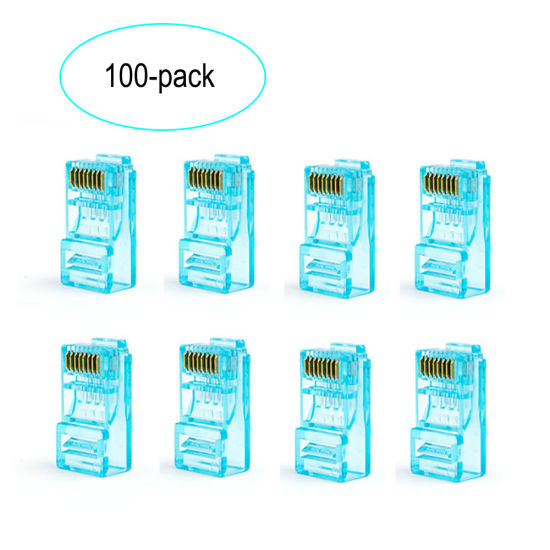 Wonterm Plug Modular 8p8c Plug 100-Park RJ45 CAT6 Unshielded RJ45 Patch Cable Connector pictures & photos
