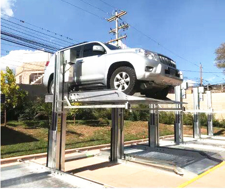 Two Post Car Parking Lift with Electric Unlock