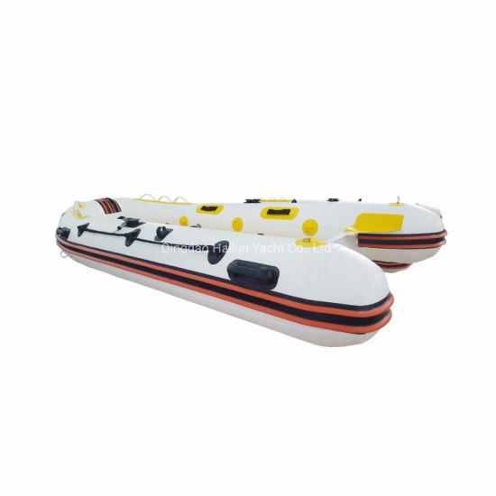 8 Persons Fiberglass Rigid Inflatable Passenger /Rib Motor Boat/Rescue/Patrol/Diving Boat (RIB520)