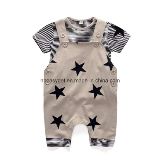 Cute Baby Boys Clothes Toddler Boys′ Romper Jumpsuit Overalls Stripe Rompers  Sets Esg10169 pictures   c55d82aff