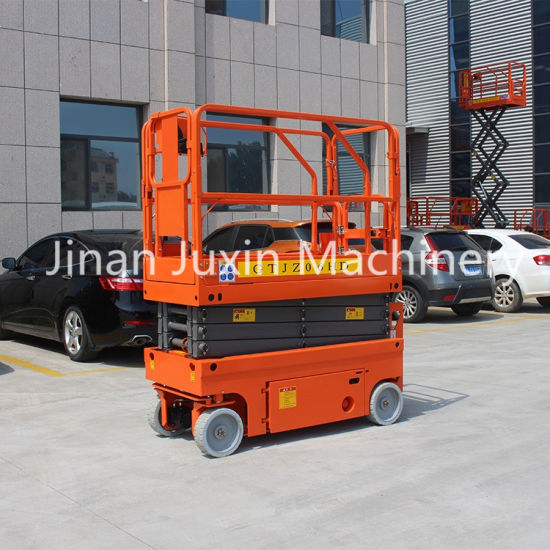8m Height Outdoor Mobile Self Propelled Scissor Lift with DC Battery