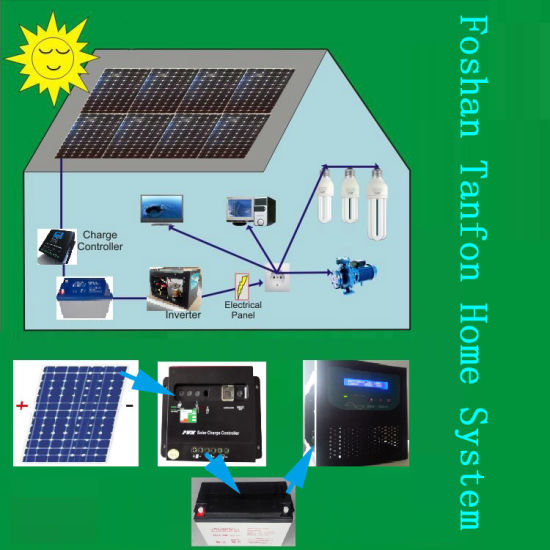 Solar Home System PV Power Batteries Supply 1kw Complete System 24V-220V Inverter pictures & photos