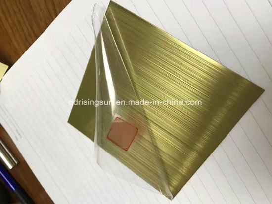 High Quality Gold Rose Gold Titanium Coated Stainless Steel Colored Sheet Metal Plate pictures & photos