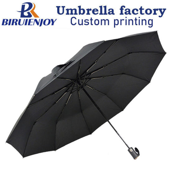 Oversized Reinforce 3 Folding 10 Bone Automatic Umbrella