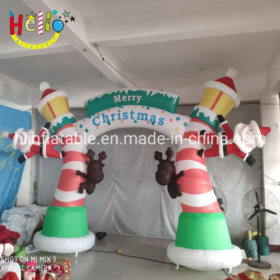 Outdoor Christmas Decoration Inflatable Arch Archway Inflatable