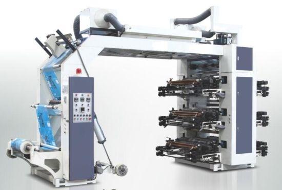 Six Colors High Speed Stack Type Flexo Printing Machine