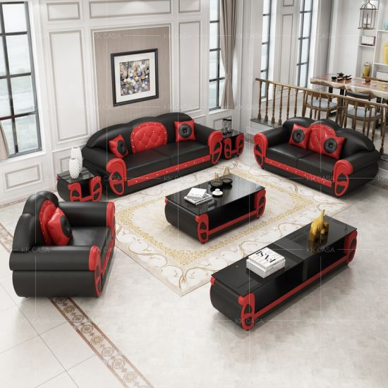 U Shaped Couch Living Room Black Sofas