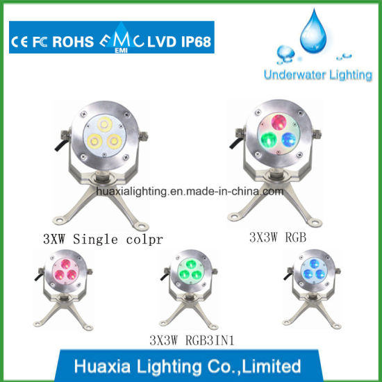 Edion IP68 316 Stainless Steel LED Underwater Pond Pool Lights Fixture pictures & photos