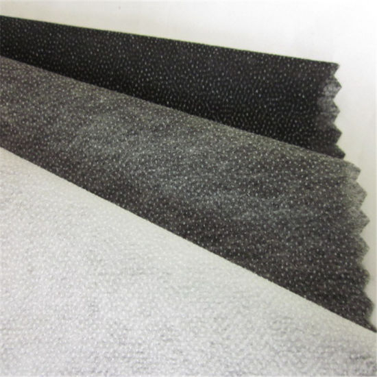Garments Double Dotted Polyester Nonwoven Fusible Interlining for Suits
