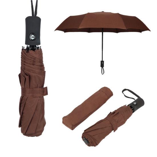 Anti-UV Sun Rain Auto Open 3 Folding Promotion Umbrella