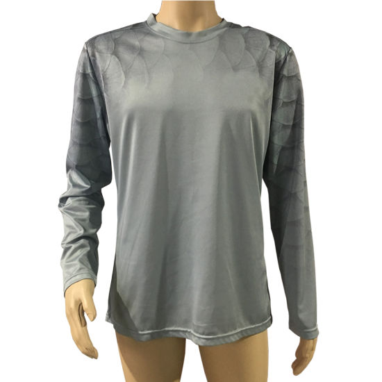 Good Quality Basic Style 100% Polyester Unisex 3D Printed Tshirt with Collar Tshirt Design Long Sleeve