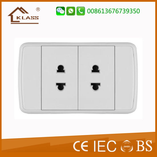 Good Quality Thailand PC Copper Material 2 Way Socket pictures & photos