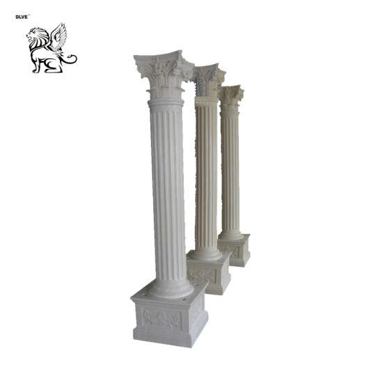 Factory Wholesale Greek Popular Wedding Used Pedestal Square Marble Column Mcy-56
