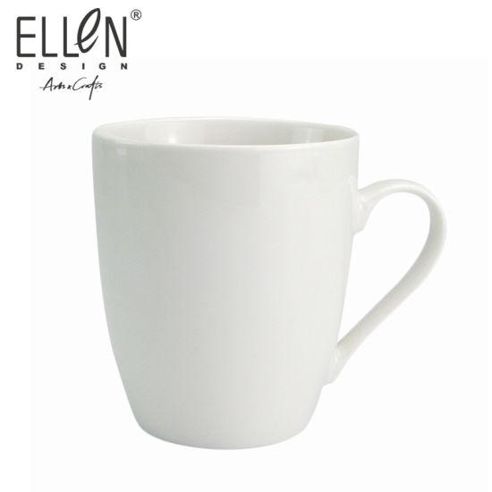 Custom Logo White Blank Ceramic Coffee Mug for Promotion
