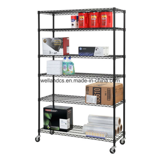 DIY Green Epoxy Coated Steel Warehouse Storage Metal Wire Shelving Rack (HD214878A6EW) pictures & photos