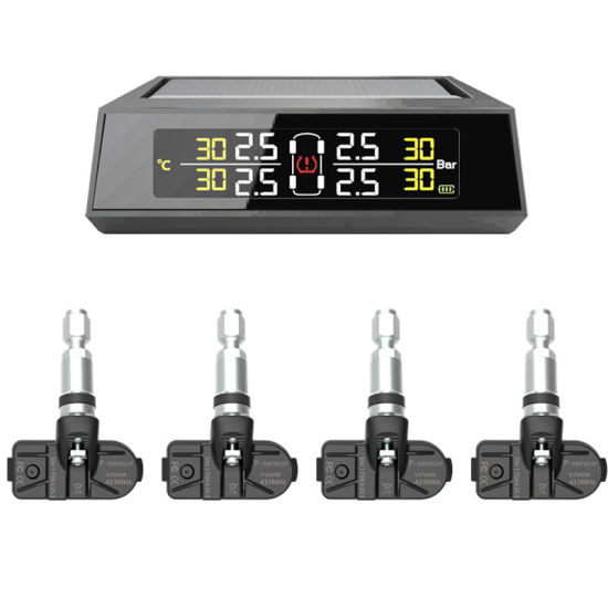 Car Solar Display System Tire Pressure Monitoring System TPMS