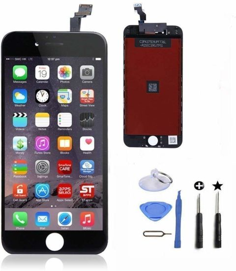 LCD Touch Screen Digitizer Frame Assembly Full Set Mobile Phone LCD Touch Screen Replacement for iPhone 6 Plus