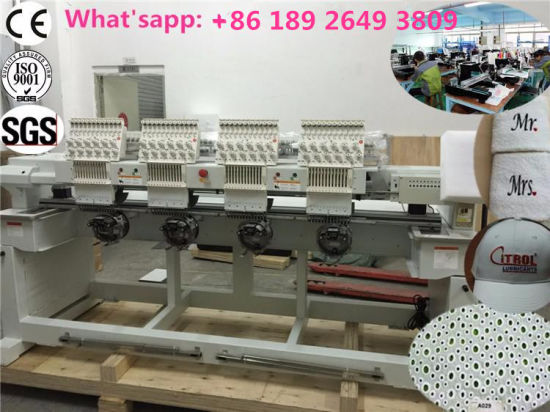 Japanese Servo Motor 4 Heads Computerized Embroidery Machine, Commercial Use with Competitive Price pictures & photos