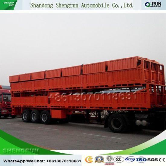3 Axles Side Wall / Drop Side Cargo Semi Trailer