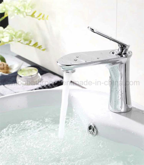 Single Handle Bathroom Products Brass High-Rise Washing Basin Faucet pictures & photos