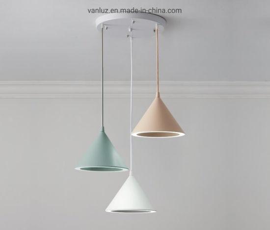 China Nordic Led Lighting Macaron Pendant Lights Restaurant