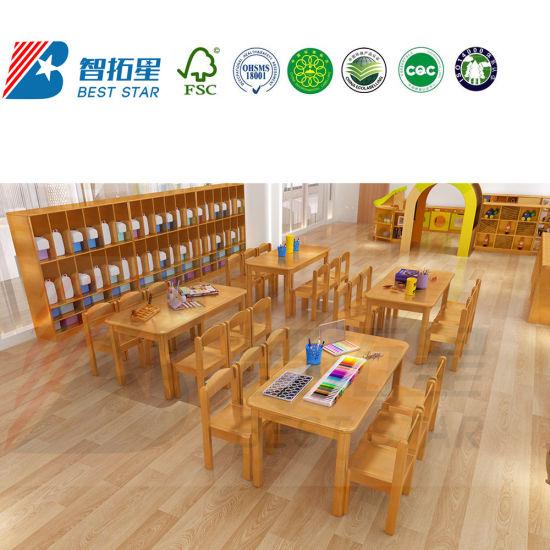 Wooden Nursery and Children Care Center Furniturekids Furniture Table and Chair Sets, modern Kindergarten and Preschool Classroom School Furniture
