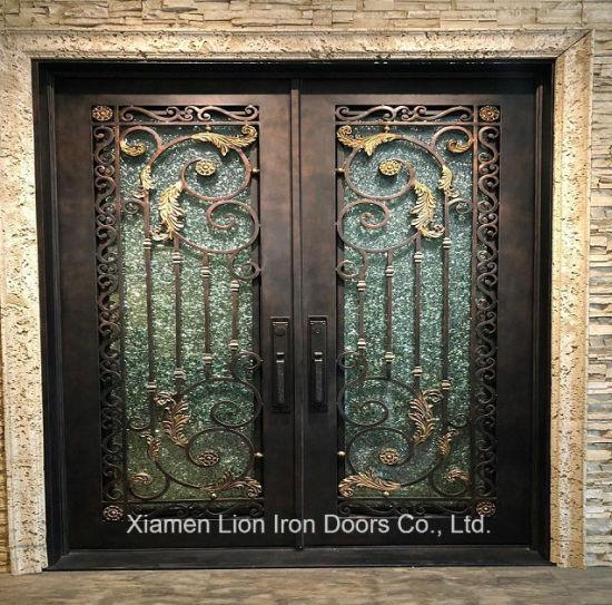 Steel Apartment Safety Steel Door Building Wrought Iron Entry Doors
