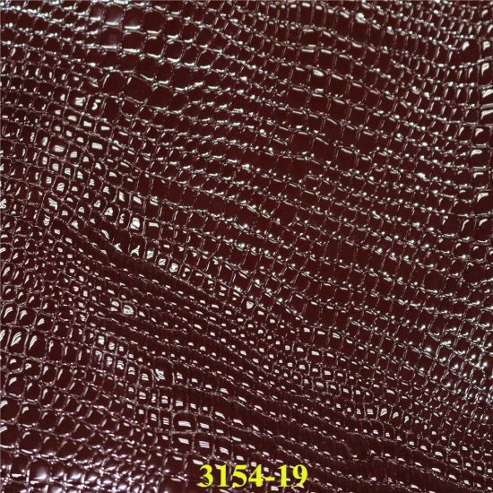 Fashion Accessories Crocodile Grain PU Material Leather for Footwear, Bags pictures & photos
