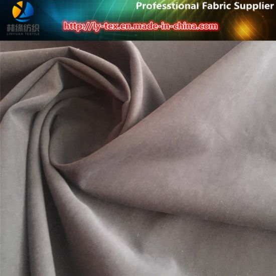 Polyester Nylon Sanded Twill Fabric for Garment with Soft Nap (R0160) pictures & photos