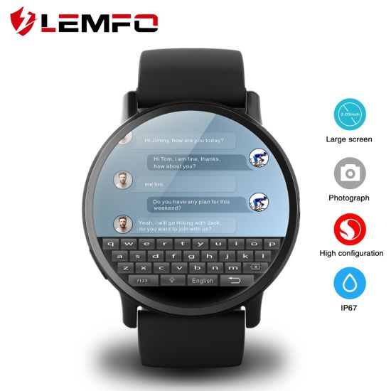 Lemfo Lemx Android 7 1 1 OS 4G Smart Watch Phone with 8MP Camera GPS  Bluetooth Watch Heart Rate Monitor